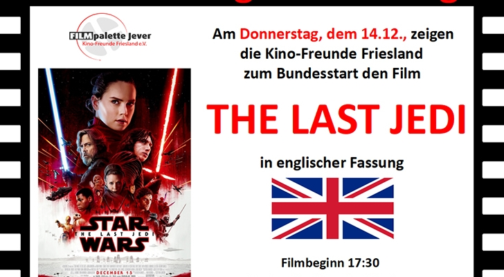 The Last Jedi in Originalfassung im Kino Jever
